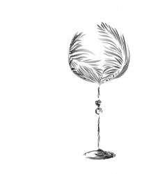 stylized wineglass vector image