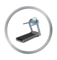 Treadmill icon cartoon Single sport icon from the vector image