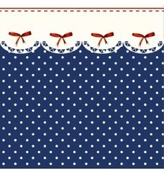 Vintage Blue Polka-dot Dress Printable Background vector image vector image