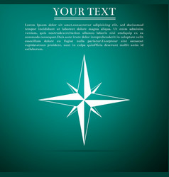 wind rose compass for travel navigation design vector image