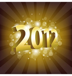 2012 Year vector image