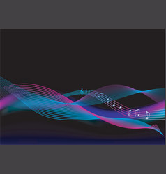 abstract background music vector image vector image