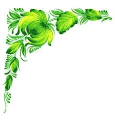 corner flower vector image vector image