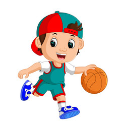young male basketball player vector image