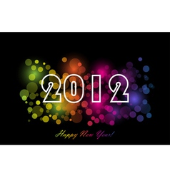 2012 - new year background vector image