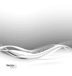 Abstract smooth swoosh line dotted noise vector image