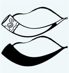Drinking horn vector image vector image