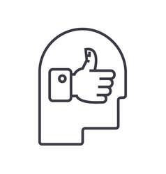 good idea head linear icon sign symbol vector image vector image