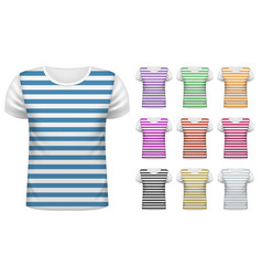 mens short t-shirt set vector image