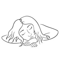 sleeping woman vector image vector image