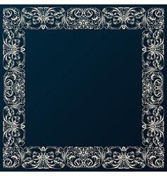 Vintage border frame decor Baroque design with vector image vector image