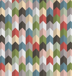 3d retro geometric seamless pattern with arrows vector image