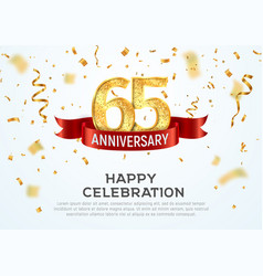 65 years anniversary banner template sixty vector