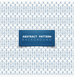 abstract blue geometric hexagon pattern circle vector image