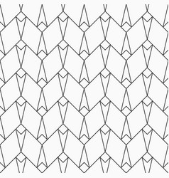 Abstract seamless pattern of lines and rhombuses vector