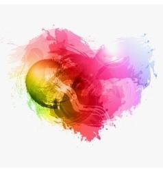 Abstract Watercolor heart vector