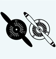 Aircraft propeller vector image