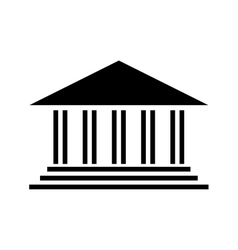 ancient greek building icon image vector image