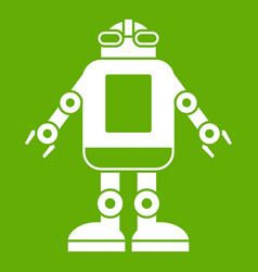 automation machine robot icon green vector image
