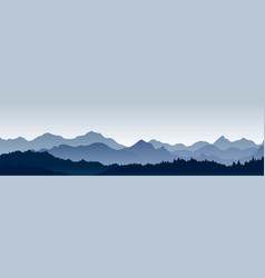 beautiful panoramic view vector image