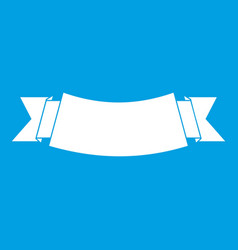 Black banner icon white vector