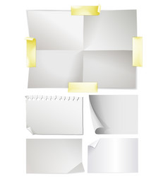 blank notes on the wall vector image