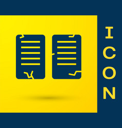 Blue commandments icon isolated on yellow vector