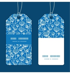 Blue white lineart plants vertical stripe vector