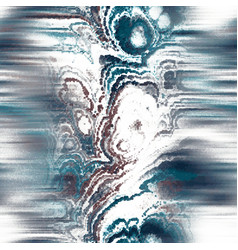 Blurred fractal marble vein wavy fluid line swatch vector