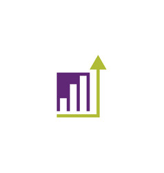 business growth chart logo icon design vector image