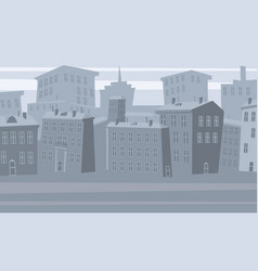 cartoon cityscape old city skyline vector image