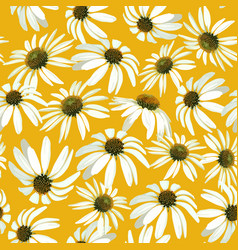 Chamomile flowers seamless pattern vector