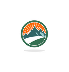 circle hill logo vector image