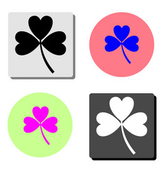 clover lucky leaf flat icon vector image
