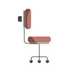 Colorful graphic of office chair side view without vector