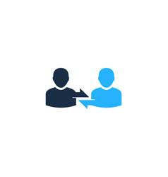 connect user logo icon design vector image