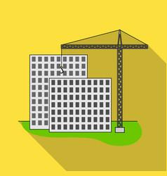Construction of houses real estaterealtor single vector