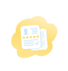 credit score icon vector image