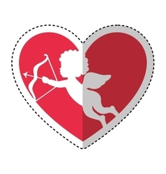 cupid angel character icon vector image