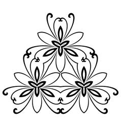 Damask Pattern Orient Ornament vector
