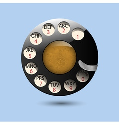 Disc dials of old retro phone vector