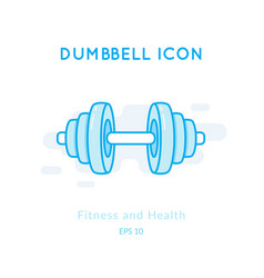 dumbbell icon isolated on white vector image