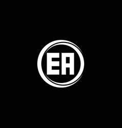 Ea logo initial letter monogram with circle slice vector