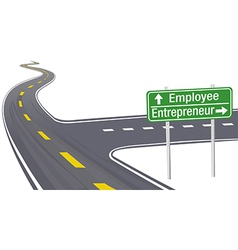 Entrepreneur Employee business decision sign vector image
