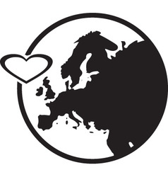 Europe and hearth vector