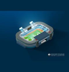 football soccer stadium isometric night vector image