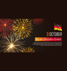germany independence day web banner vector image