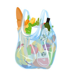 Grocery in a plastic bag vector