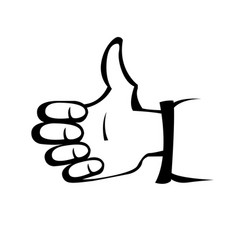 Hand gesture like - thumbs up sign vector