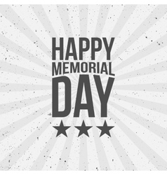 happy memorial day text vector image